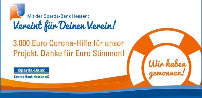 """Sparda-Bank Hessen Corona-Hilfe-Aktion """"Vereint für Deinen Verein!"""""""